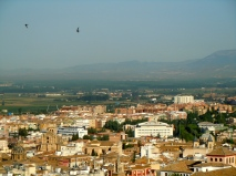 Only about 450,000 people in Granada, so its not that big in my opinion.