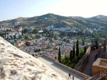 Another cool view from the Alhambra's ramparts.