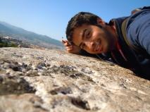 Alhambra wall selfie.