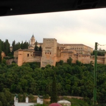 This picture was taken from the bus just driving past the Alhambra.