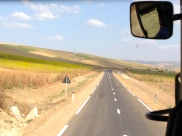 These are the super narrow national roads...national roads in Morocco mean country roads